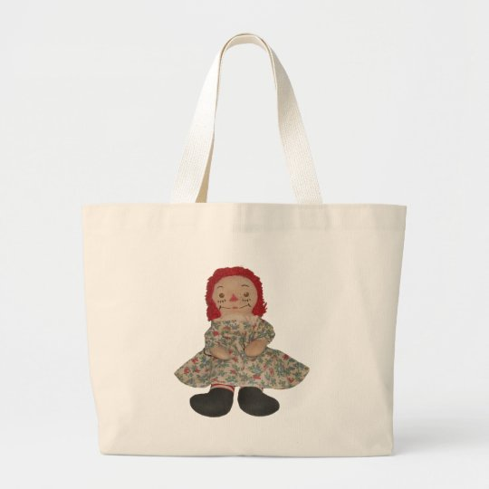 Raggedy Doll Large Tote Bag