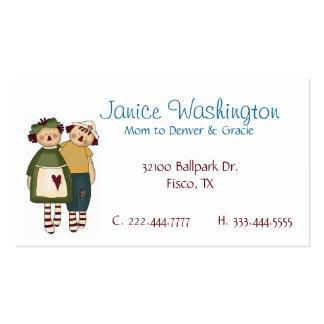 Raggedy Dolls Custom Mommy Card Business Card