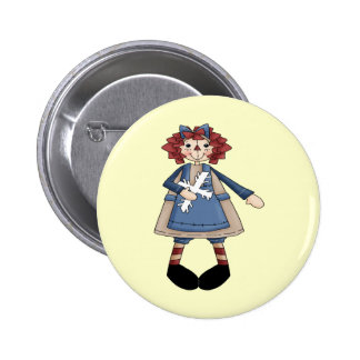 Raggedy January 2 Inch Round Button
