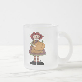 Raggedy October Frosted Glass Coffee Mug