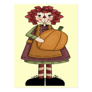 Raggedy October Postcard