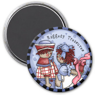 Raggedy Treasures Ann and Andy Fridge Magnet