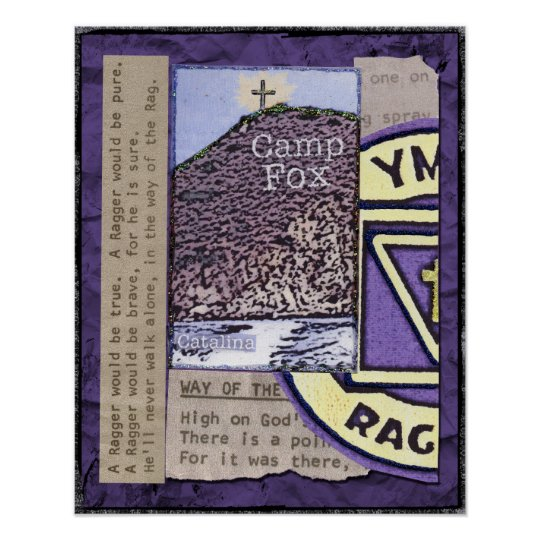 Raggers: Bibles Peak with Ragger Emblem and Lyrics Poster