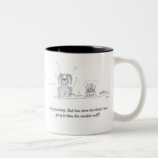 Raggy Dog - Birthday blues! Two-Tone Coffee Mug
