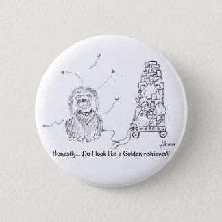 Raggy Dog - Shopping Shenanigans! Pinback Button