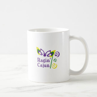 RAGIN CAJUN CLASSIC WHITE COFFEE MUG
