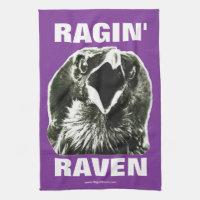 Ragin' Raven Rally Towel (Purple w/White letters)