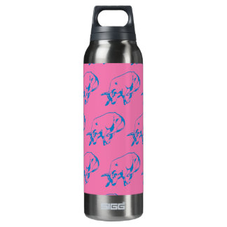 Raging Bull Blue Pink 16 Oz Insulated SIGG Thermos Water Bottle