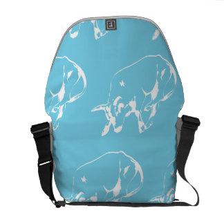 Raging Bull Blue White Courier Bags