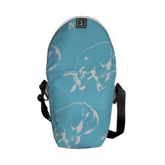 Raging Bull Blue White Messenger Bag