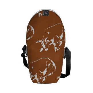 Raging Bull Brown White Courier Bags