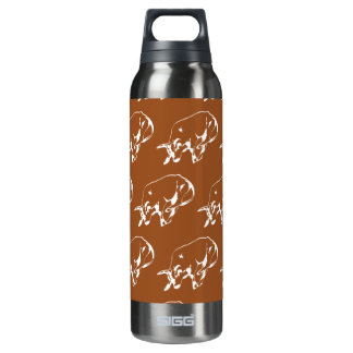 Raging Bull Brown White 16 Oz Insulated SIGG Thermos Water Bottle