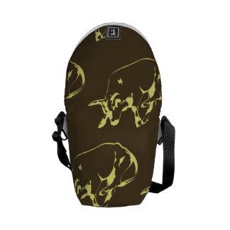 Raging Bull Dark yellows Courier Bag