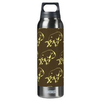 Raging Bull Dark yellows 16 Oz Insulated SIGG Thermos Water Bottle