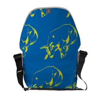 Raging Bull Green Blue Messenger Bag