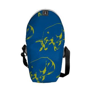 Raging Bull Green Blue Courier Bag