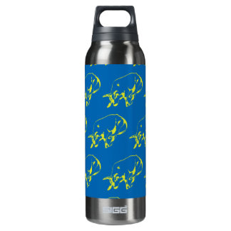 Raging Bull Green Blue 16 Oz Insulated SIGG Thermos Water Bottle