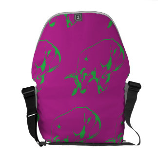 Raging Bull Green Magenta Courier Bags