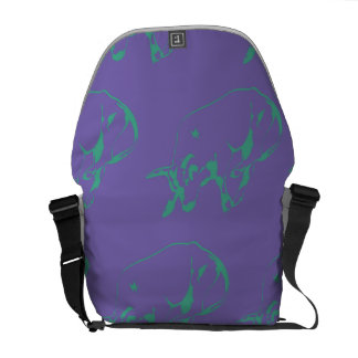 Raging Bull Green Purple Courier Bags