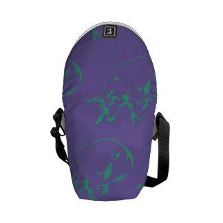 Raging Bull Green Purple Messenger Bag