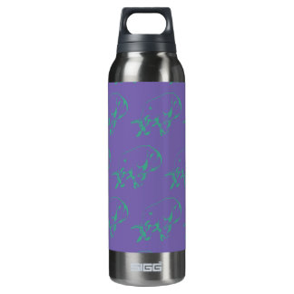 Raging Bull Green Purple 16 Oz Insulated SIGG Thermos Water Bottle