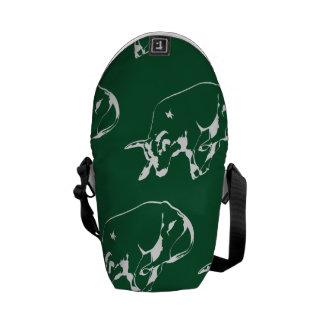 Raging Bull Green White Messenger Bags