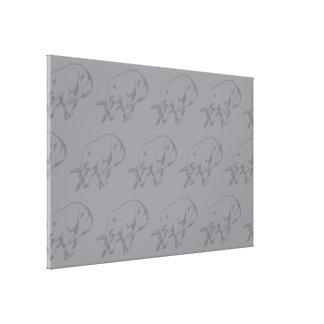 Raging Bull Grey Canvas Print