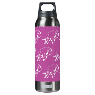 Raging Bull Magenta White 16 Oz Insulated SIGG Thermos Water Bottle