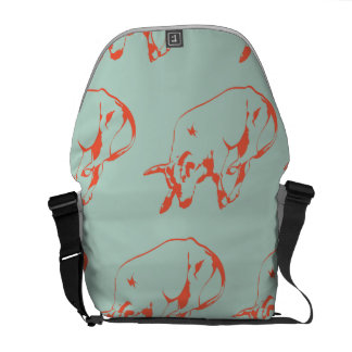 Raging Bull Orange Mint Courier Bags