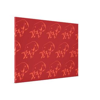 Raging Bull Reds Canvas Print