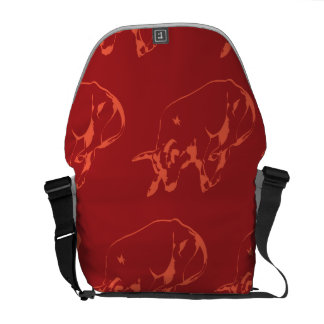 Raging Bull Reds Courier Bags