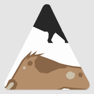 Raging Bull Triangle Sticker