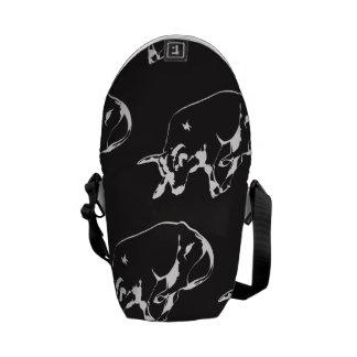 Raging Bull white Messenger Bag
