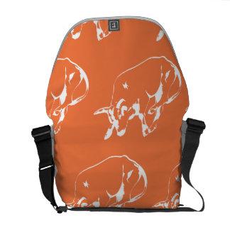 Raging Bull White Orange Messenger Bag