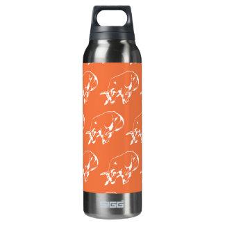 Raging Bull White Orange 16 Oz Insulated SIGG Thermos Water Bottle