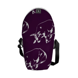 Raging Bull White Purple Courier Bags