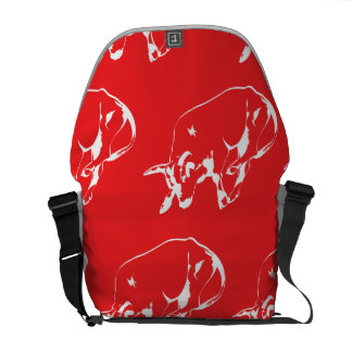 Raging Bull White Red Messenger Bag