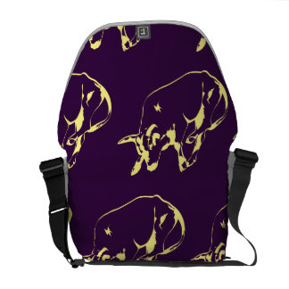 Raging Bull Yellow Purple Courier Bags