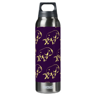 Raging Bull Yellow Purple 16 Oz Insulated SIGG Thermos Water Bottle