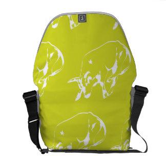 Raging Bull Yellow White Messenger Bags