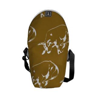 Raging Bulle White Tan Messenger Bags