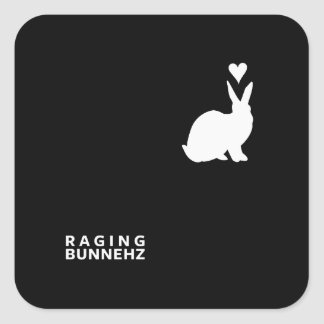 RAGING BUNNEHZ Book Cover Square Sticker