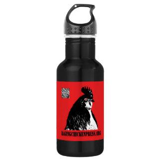 Raging Chicken Press Logo 18oz Water Bottle