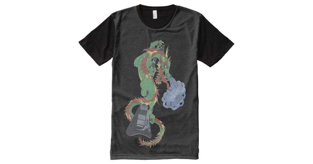 Raging dragon all over print t shirt zazzle for Vista print tee shirt