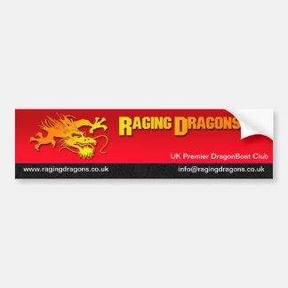 Raging Dragons Bumper Sticker