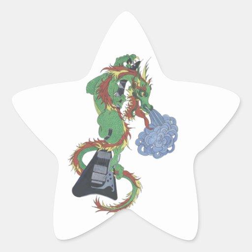Raging Dragon's New Guitar Star Sticker