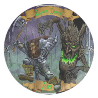 Raging Dwarf Ale Melamine Plate