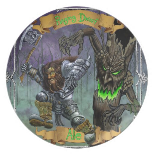 Raging Dwarf Ale Party Plate