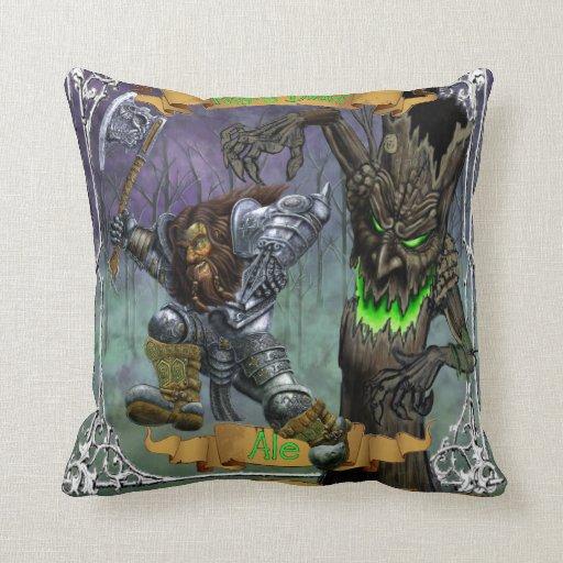 Raging Dwarf Ale Throw Pillow