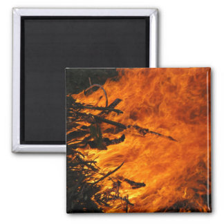 Raging Fire 2 Inch Square Magnet